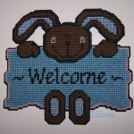 Plastic Canvas Welcome Sign