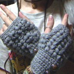 Crocheted Fingerless Gloves with a Mitten Top - Free Crochet Pattern