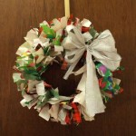 reused-wrapping-paper-wreath