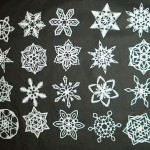 six-pointed-snowflakes