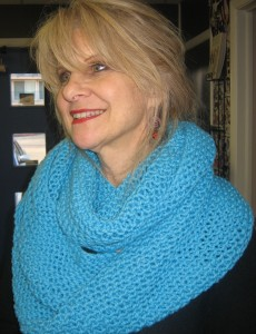 Free knitted scarf pattern « I live on a farm