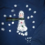 Foot Print Snowman Paint Craft