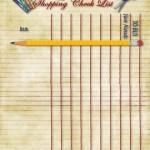 Printable School Supplies Checklist