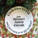 Handmade Santa Cookies Plate Tutorial