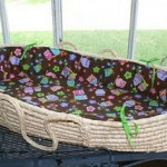 Moses basket baby bedding tutorial