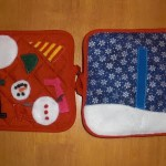 Pot Holder Christmas Quiet Book Tutorial