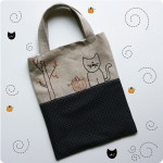 Embroidered Trick or Treat Tote Bag Sewing Pattern