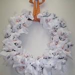 Lollipop Ghost Halloween Wreath