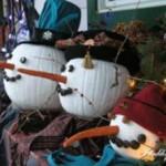 Snowman Pumpkins Craft