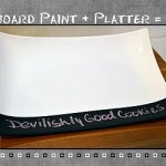 Chalkboard Platter Tutorial
