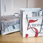 recycled newspaper gift bag tutorial