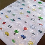 Recycled Bubble Wrap Travel Game