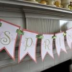 Printable Spring Banner