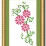 Swirly Flowers Cross Stitch Chart