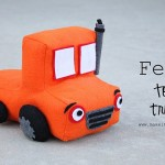 Felt Toy Truck Rig Pillow Tutorial