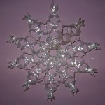 Recycled Six-pack Holder Snowflake