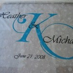 Monogrammed Wedding Aisle Runner Tutorial