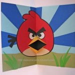angry bird pop up card
