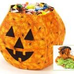 Fabric Jack O'Lantern Pumpkin Candy Bowl Pattern