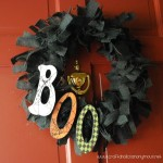 Boo Halloween Wreath Tutorial