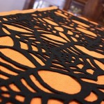 Spider Web Halloween Table Runner