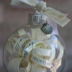Wedding Invitation Ornament Tutorial