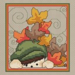 Fall Leaves Cross Stitch Pattern