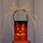 Tin Pumpkin Halloween Craft