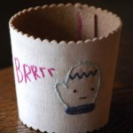 Embroidered Coffee Sleeve Pattern