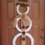 Burlap Snowman Door Decor