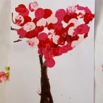 Pretty Valentine Trees Kids Craft