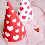 Printable Valentines Party Hats