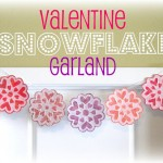 Valentine Snowflake Garland