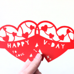 Pretty Valentine Papercut Template
