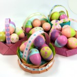 Paper Plat Easter Baskets Tutorial