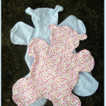 Teddy Bear Baby Blanket Tutorial and Sewing Pattern