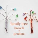 Family Tree Pendant Tutorial