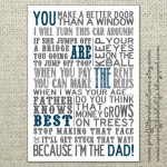 Father's Day Subway Art Printable