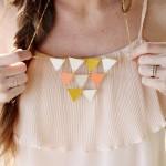 Geometric Triangle Necklace Tutorial