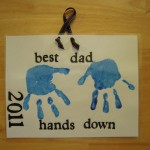 Hands Down Best Dad Handprint