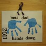 Hands Down Best Dad Handprint