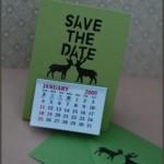 DIY Handmade Wedding Save the Date Calendar Tutorial