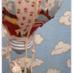 Recycled Light Bulb Hor Air Balloon Ornament