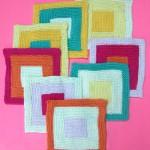Log Cabin Washcloth Knitting Pattern