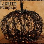 Black Grapevine Lighted Pumpkin Tutorial