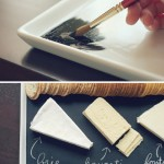 DIy Chalkboard Serving Platter Tutorial