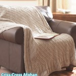 Criss-Cross Afghan Knitting Pattern
