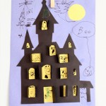 Haunted House Cutout Halloween Craft