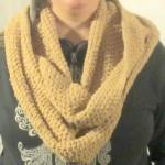 Easy Tunisian Crochet Cowl Crochet Pattern