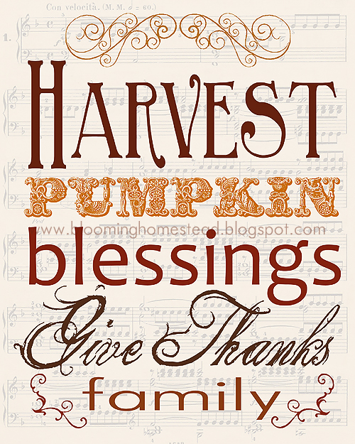 Harvest Pumpkin Blessing